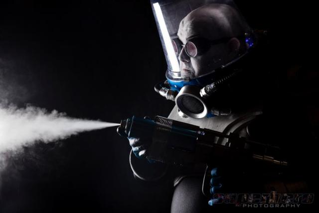 Mr. Freeze cosplay photographed by Adam Jay