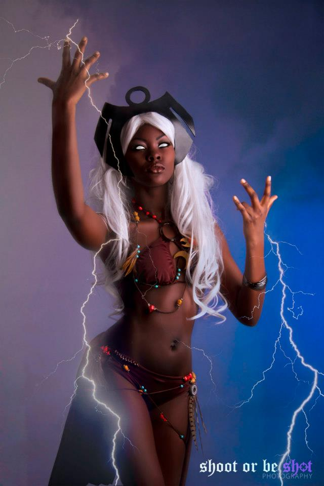 Storm cosplayed by Una Momolu