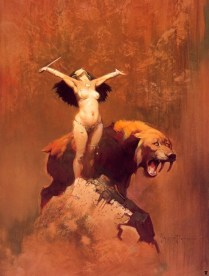 Sun Goddess by Frank Frazetta