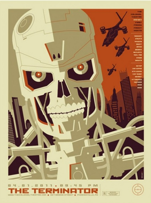 The Terminator movie poster by Tom Whalen