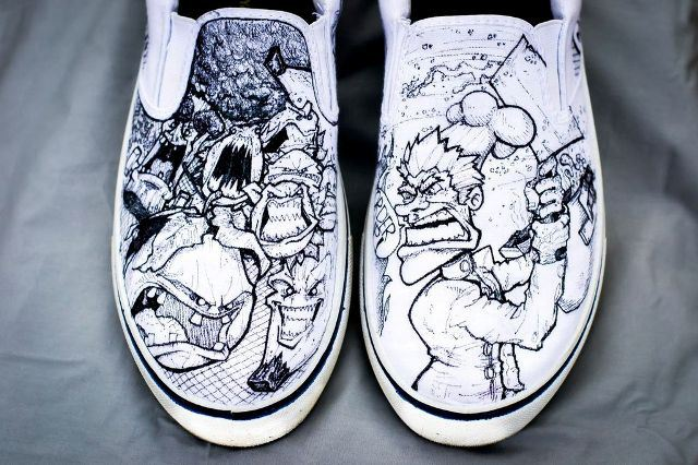 Zombie Fruits & Vegetables designer shoes by Nick Forte