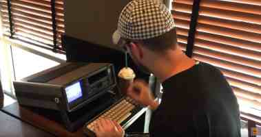 Commodore SX-64 at Starbucks