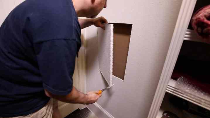 Install a Hidden Wall Safe 0007