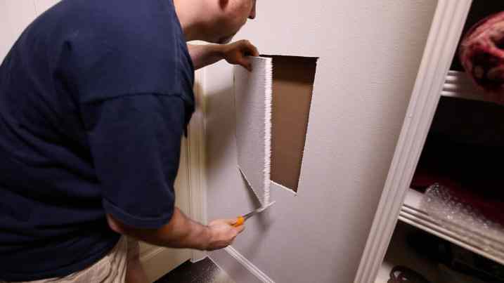 Install a Hidden Wall Safe 0007