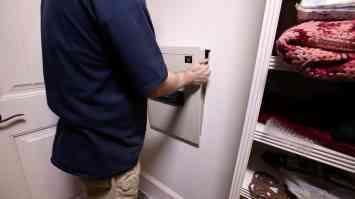 Install a Hidden Wall Safe 0008