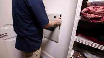 Install a Hidden Wall Safe 0008