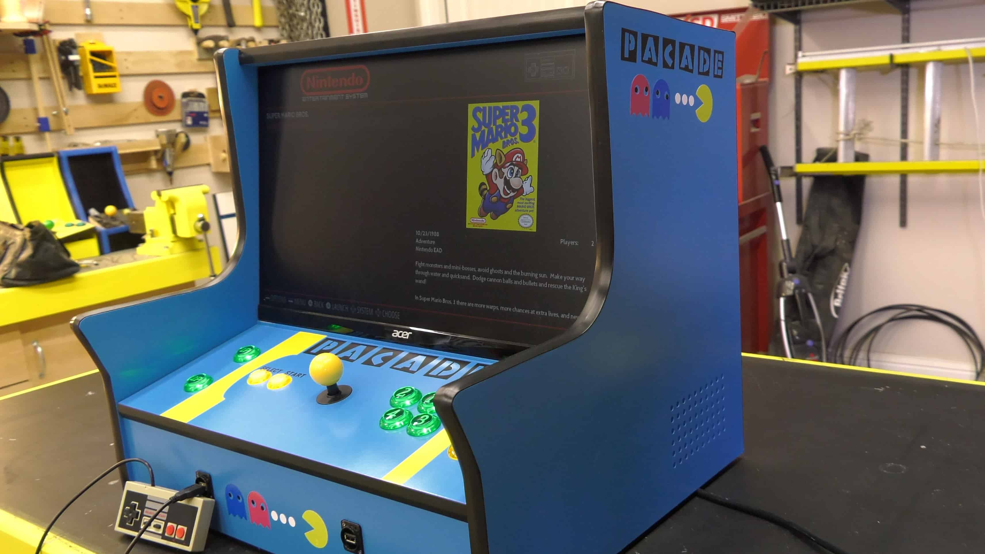 Pacade Bartop Arcade Cabinet Plans  The Geek Pub