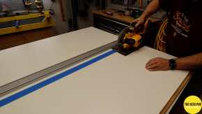 Ultimate Electronics Workbench 0006 - Cutting the Melamine Sheets