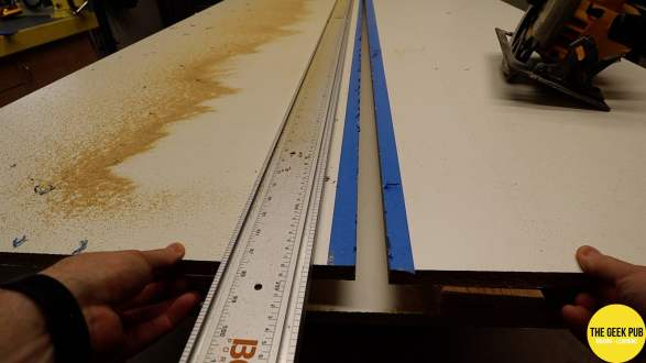 Ultimate Electronics Workbench 0007 - Cutting the Melamine Sheets