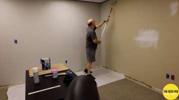 Painting Light French Grey Sherwin Williams