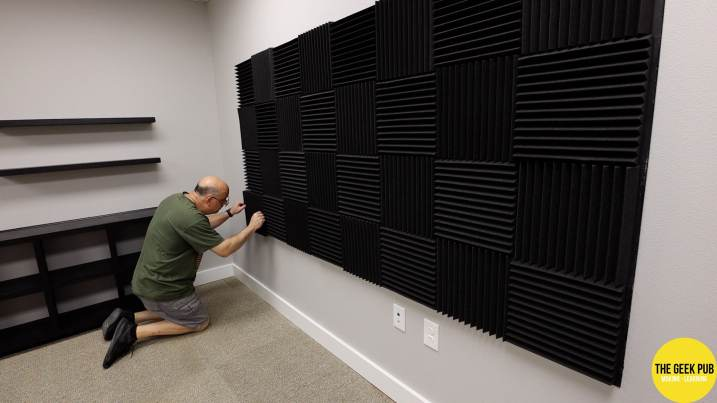 Installing Acoustic Foam Tiles in the Studio
