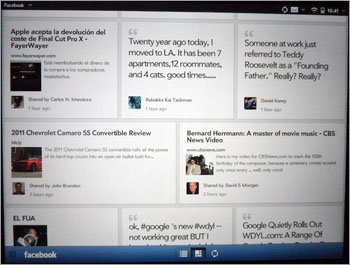 Facebook App for HP TouchPad