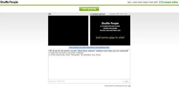 Shuffle people best video chat app