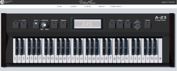 Recursive Arts Piano Learn and Play Piano Online for Free