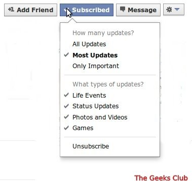 how to use Facebook subscribe button
