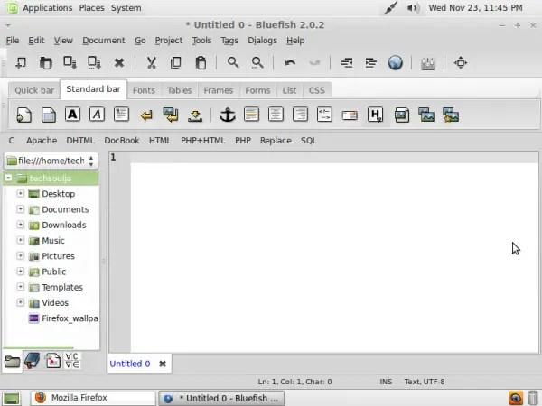 Bluefish HTML Editor