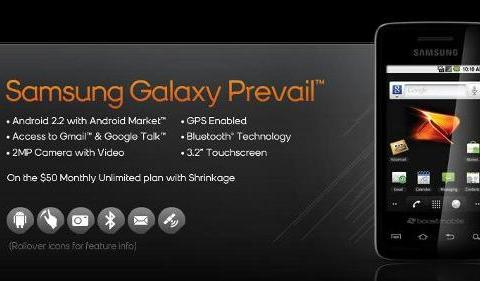 Samsung Galaxy Prevail Review & Technical Specification