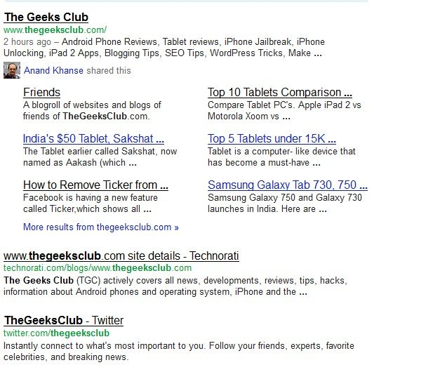 User Style Google Search