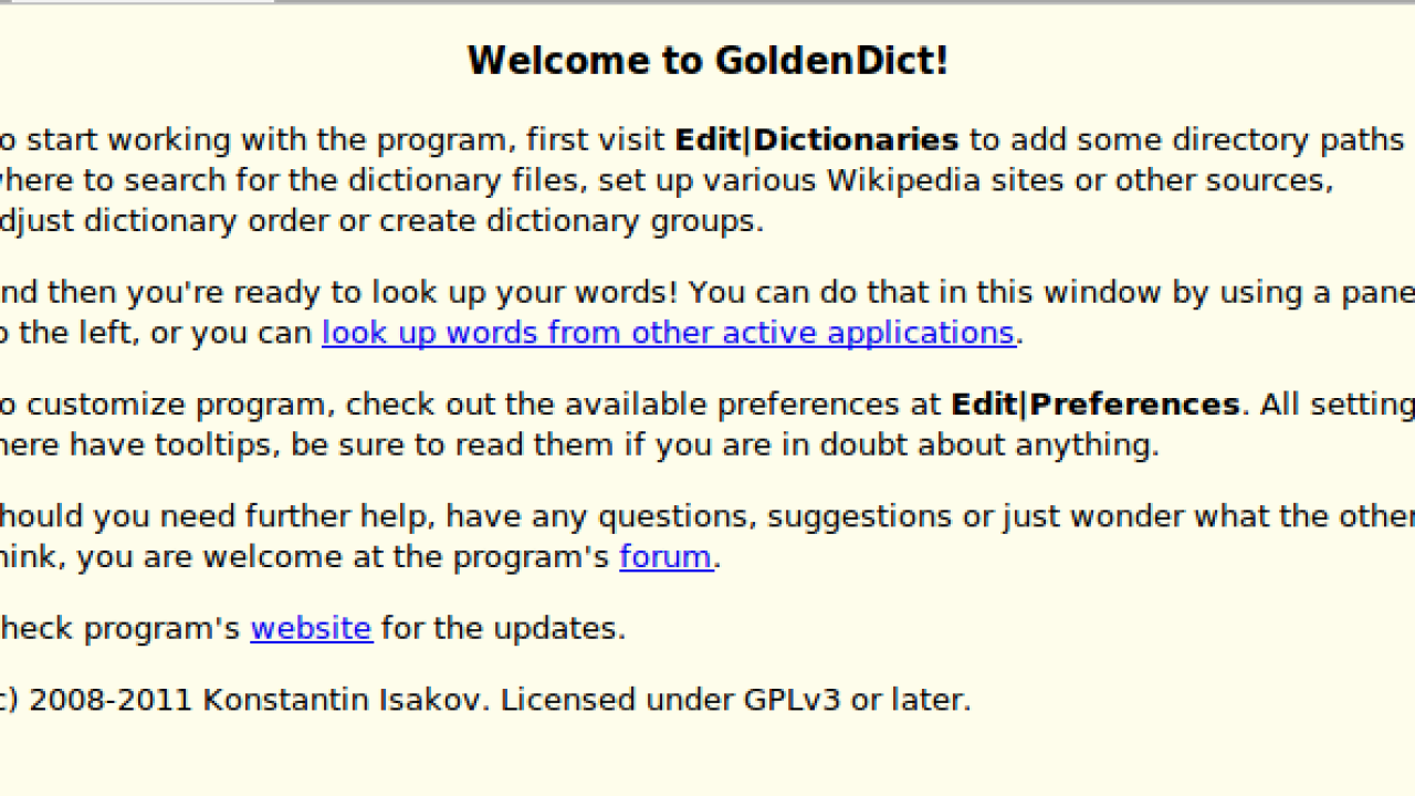 GoldenDict: a useful dictionary app for Linux