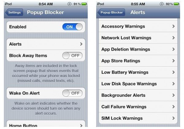 Block annoying Popup Messages Alerts on iPhone