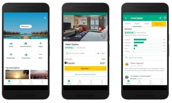 TripAdvisor app for Android