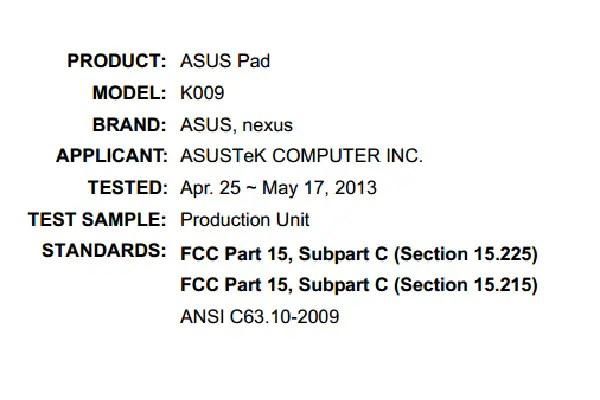 Nexus 7 K009