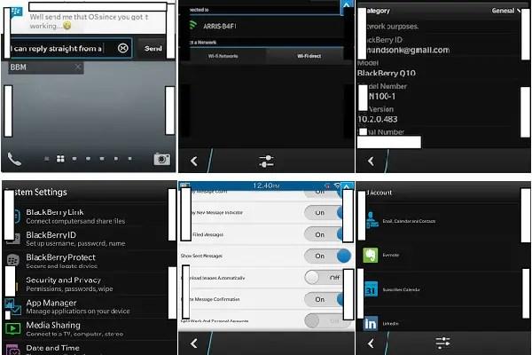 BlackBerry 10.2 screenshots