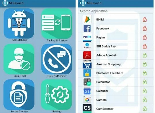 Download M-Kavach security app for Android