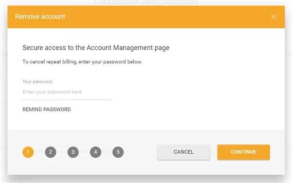 Remove BeNaughty Account
