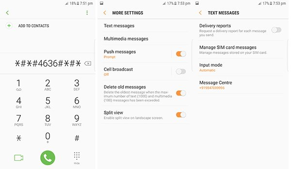 Check Message center in Android