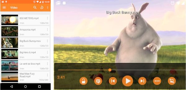 Play DivX XviD videos on Android