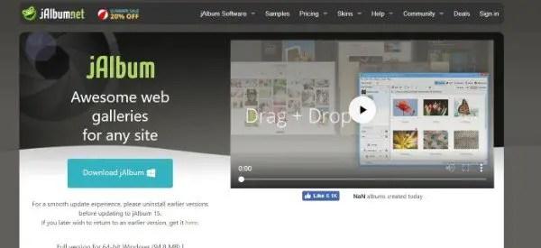 Jalbum Image Sharing Website Software