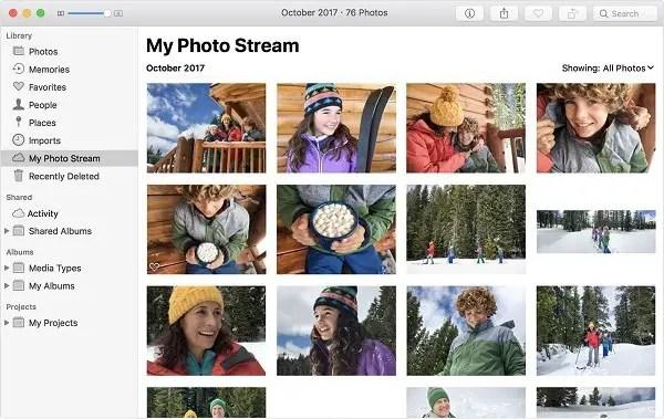 macOS My Photo Stream