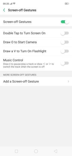 screen off gestured