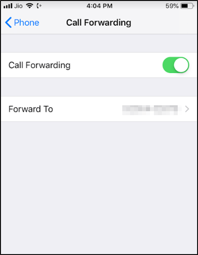 activate call forwarding and waiting on iPhone