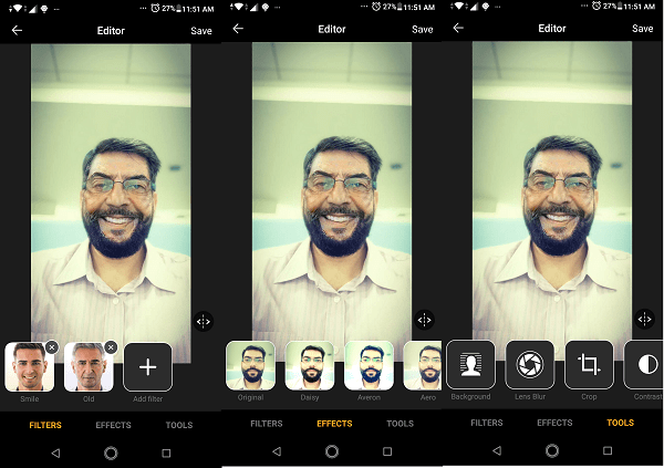 FaceApp Multiple Effects