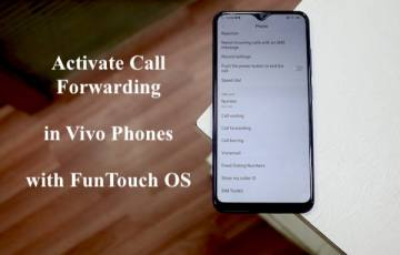 Activate call forwarding & waiting in Vivo Phones