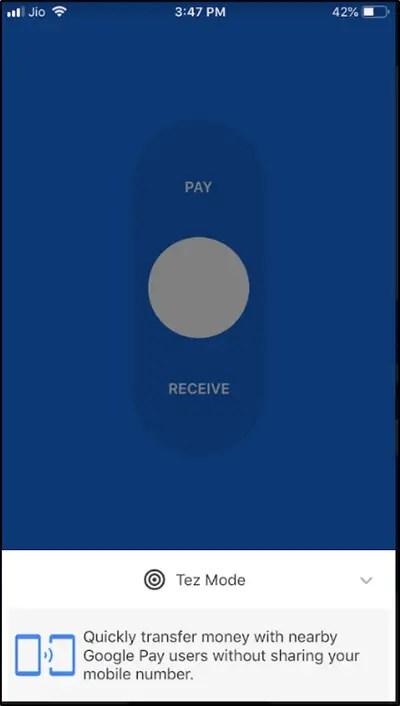 Google Pay Tez Mode