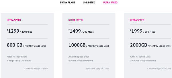 Asianet broadband tariff