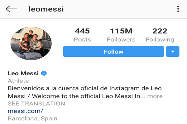 @leomessi (Lionel Messi)