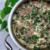 Ground Beef with Spinach and Cream