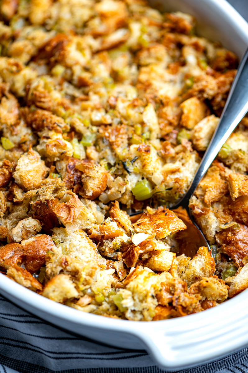 Old-Fashioned Bread Stuffing - The Genetic Chef
