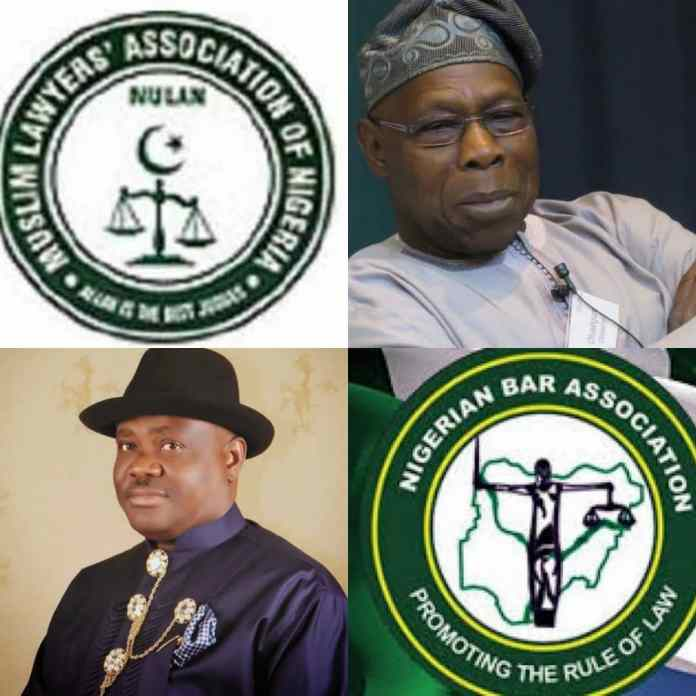 Reason Why We Dont Want Obasanjo And Wike To Speakers At Our Conference, Muslim Lawyers Tell NBA