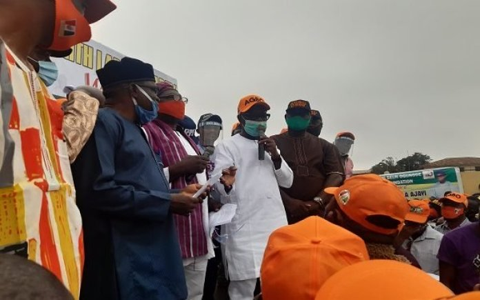 PHOTO/VIDEO: Huge Crowd As Ondo Deputy Gov Agboola Declares For ZLP