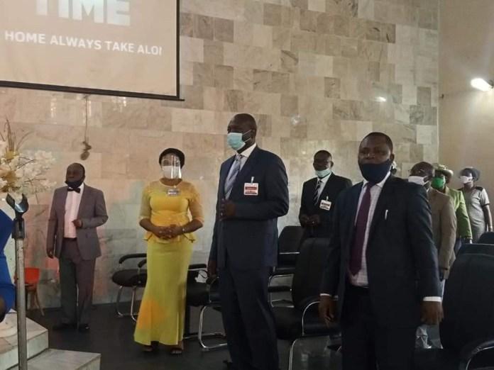 APC governorship candidate in Edo, Osagie Ize-Iyamu, ministers at RCCG (Photos)