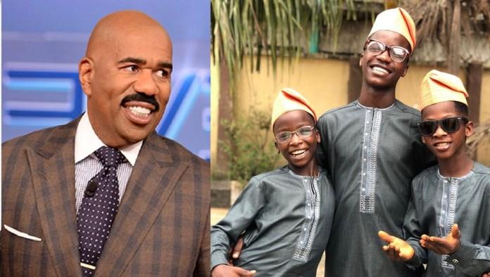 American Comedian Steve Harvey Features Ikorodu Bois On His Show