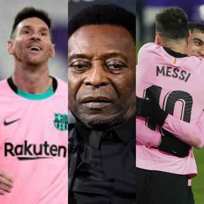 #BARVAL: What Lionel Messi Said After Breaking Pele's Scoring Record