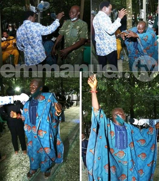 Reason Why Famous Nollywood Actors Storm TB Joshua's Church [PHOTOS]