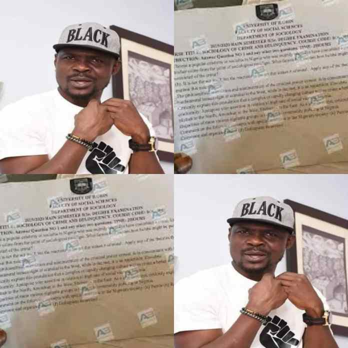 HILARIOUS!!! Baba Ijesha Features In UNILORIN Examination, See Questions