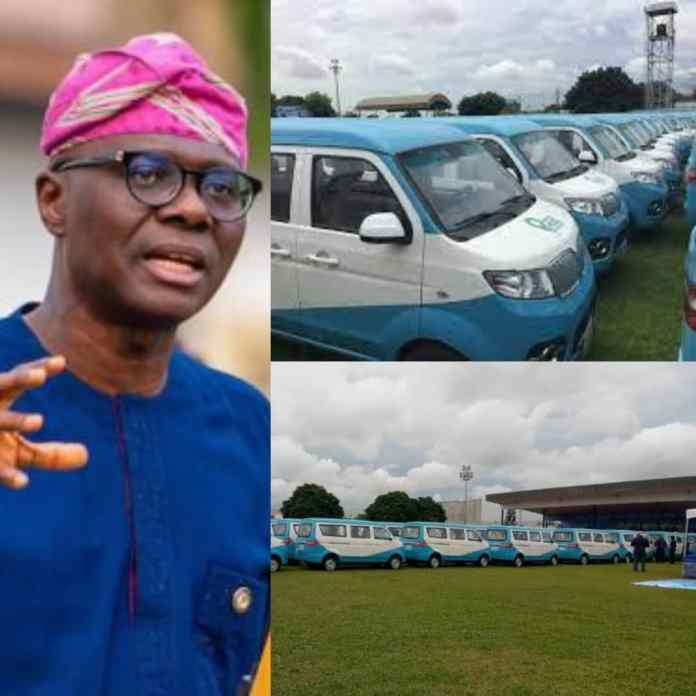 ITS OFFICIAL!!! Sanwo-Olu Launches 300 First & Last Mile Buses To Replace Okada